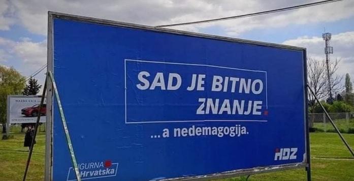 Lavinu smijeha izazvao je plakat HDZ-a koji je osvanuo u Zagrebu…