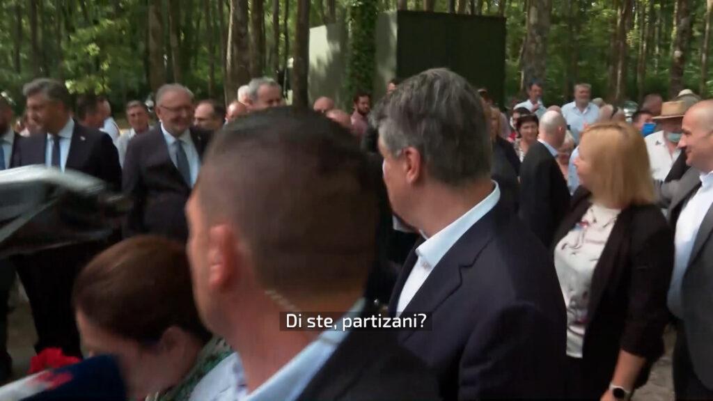 VIDEO Milanović pozdravio Plenkovića i ministre: Di ste, partizani…